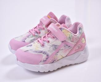 Детски маратонки  текстил розови