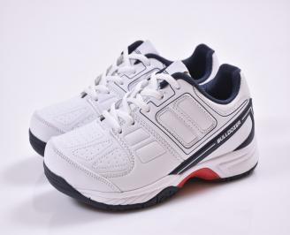 Юношески  маратонки еко кожа бели