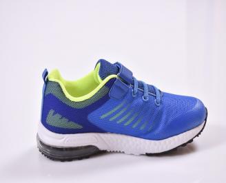 Детски маратонки  текстил сини 3