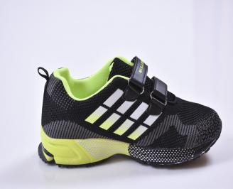 Детски маратонки  текстил черни 3