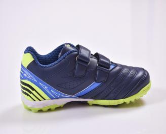 Детски маратонки  еко кожа сини 3