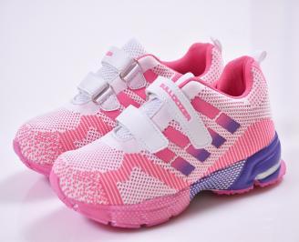 Детски маратонки   розово/бяло