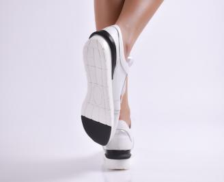 Дамски  обувки сребристи естествена кожа 3