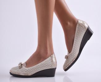 Дамски ежедневни обувки еко кожа бежови