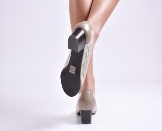Дамски обувки еко кожа бежови