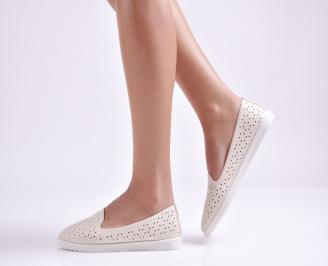 Дамски  равни обувки  бежови еко кожа