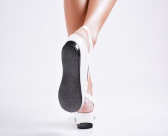 Дамски сандали еко кожа бели 3