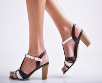 Дамски елегантни сандали еко кожа кафяви