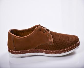 Мъжки  обувки естествен набук кафяви