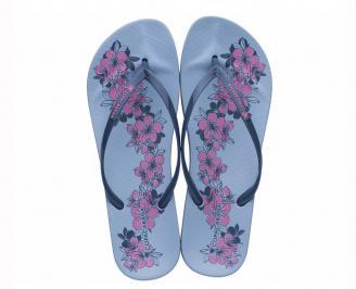 Дамски чехли сини