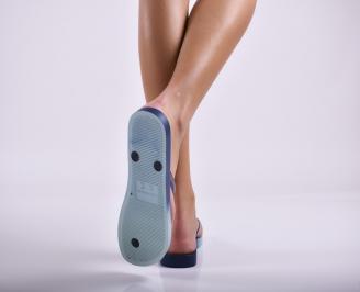 Дамски чехли сини 3