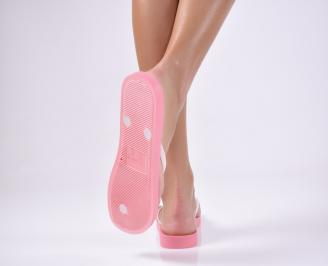 Дамски чехли розови 3