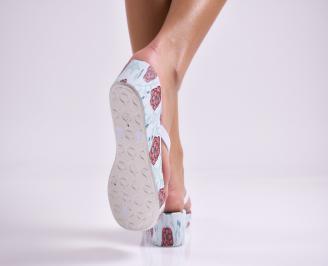 Дамски  чехли  бели 3