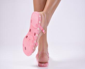 Дамски равни  сандали розови 3