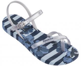 Дамски равни  сандали  сини