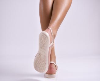 Дамски сандали пудра 3