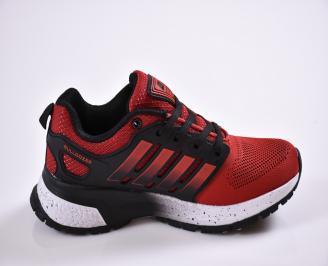Юношески маратонки Bull  текстил червени 3