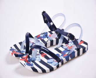 Детски  равни  сандали сини