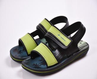 Детски сандали зелени