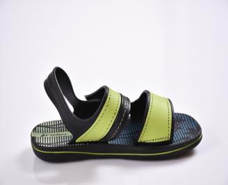 Детски сандали зелени 3