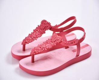 Детски  равни  сандали розови