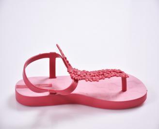 Детски  равни  сандали розови 3