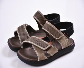 Юношески сандали бежови
