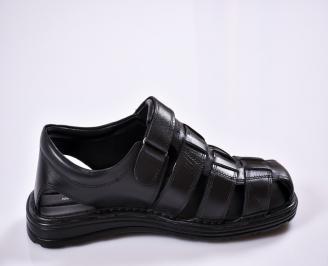 Мъжки сандали -Гигант естествена кожа черни 3