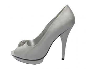 Дамски елегантни обувки  сиви