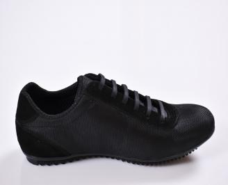 Мъжки спортно елегантни  обувки текстил черни