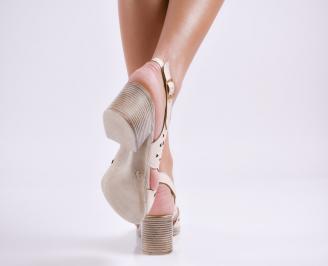Дамски  сандали  Гигант  еко кожа  бежови