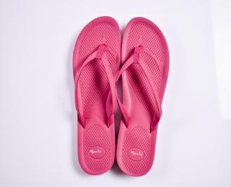 Дамски чехли текстил  розови