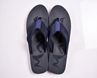 Мъжки джапанки текстил сини