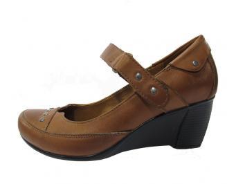 Дамски обувки естествена кожа кафяви