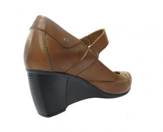 Дамски обувки естествена кожа кафяви 3
