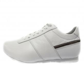Мъжки обувки спортни естествена кожа бели