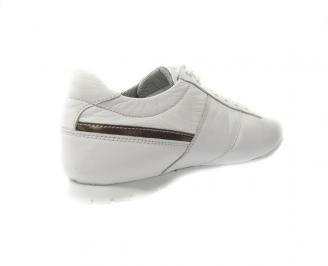 Мъжки обувки спортни естествена кожа бели 3