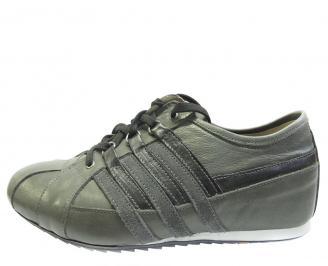 Мъжки обувки спортни естествена кожа сиви