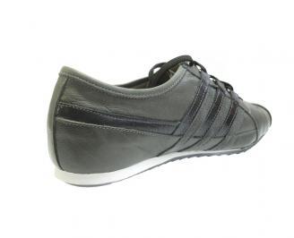 Мъжки обувки спортни естествена кожа сиви 3