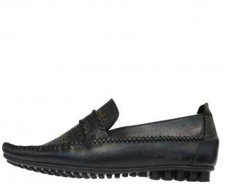 Мъжки обувки от естествена кожа  черни