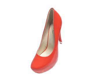 Дамски обувки еко кожа/лак корал