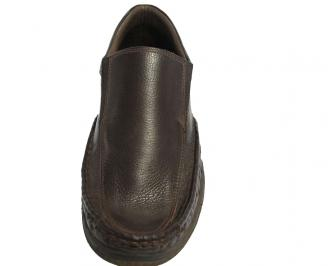 Мъжки ежедневни обувки от естествена кожа кафяви 3