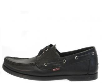 Мъжки обувки от естествена кожа Гигант черни