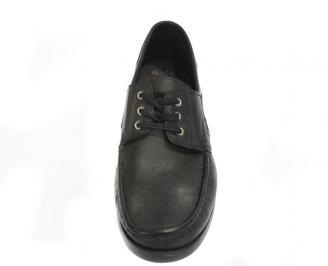 Мъжки обувки от естествена кожа Гигант черни 3