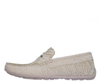 Мъжки обувки  естествена кожа бели