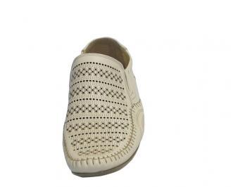 Мъжки обувки от естествена кожа официални бежови 3