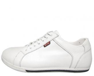 Мъжки обувки Гигант естествена кожа бели