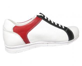 Мъжки обувки Гигант естествена кожа бели 3