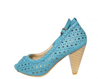 Дамски обувки еко кожа сини
