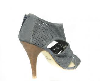 Дамски сандали еко кожа сиви 3